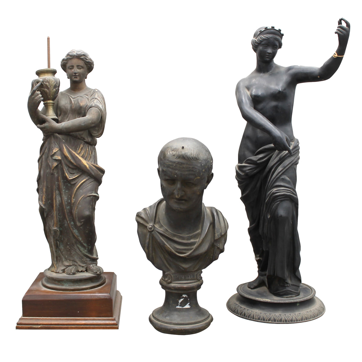 LOTTO DI TRE SCULTURE-LOT OF THREE SCULPTURES